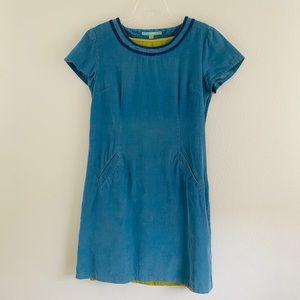 Boden Blue Dress with a Green Inner